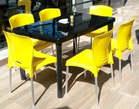 Mesa de plástico junto com cadeiras a venda a bom preço - Angola