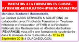 Formation En Cuisine Patisserie Restauration Hygiene Marketing - Burkina Faso