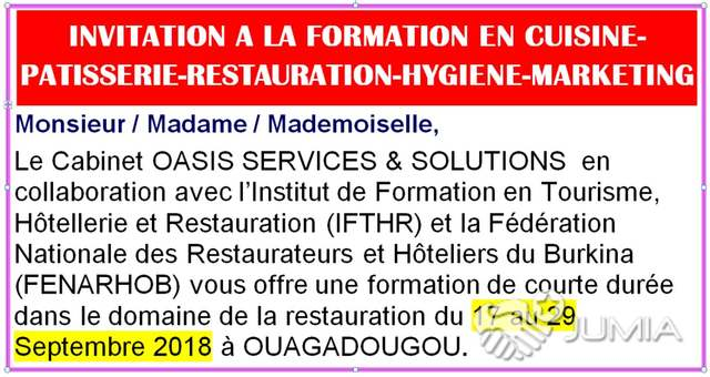 Formation En Cuisine Patisserie Restauration Hygiene Marketing