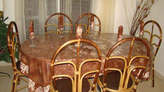 Nappe de Table & Services Style Africain En Batik - Congo-Brazzaville