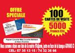 Impression Cartes de Visite Papiers Entete Et Autres - Côte d'Ivoire