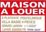 BELLE VILLA  AVEC GRAND JARDIN  2 PLATEAUX   - Côte d'Ivoire