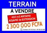Terrain à vendre Anyama Adjamé 5ème Extension - Côte d'Ivoire
