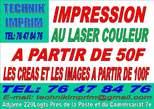 Impression Sur Laser  Couleur  - Côte d'Ivoire