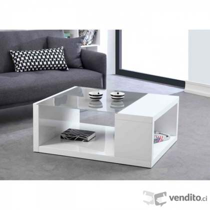 Rubic Table Basse Laque Blanc