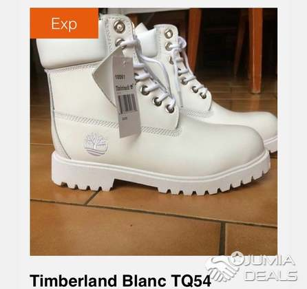 timberland blanc