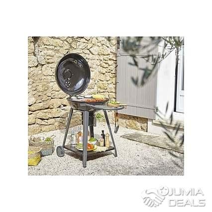 Naterial By Leroy Merlin Barbecue Au Charbon De Bois Yutan Avec Couvercle Noir Récupérateur De Cendres Garantie 2 Ans