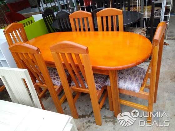 Table De Salle A Manger Bois Massif Vernis Abidjan Jumia Deals