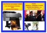 Impression  Photo sur grand format pour médaille, mariage - Cameroon