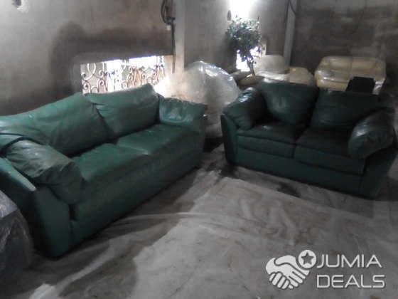 Salon en cuir vert olive   Kotto   Jumia Deals
