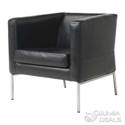 Fauteuil Ikea Couleur Noir Cuir Veritable Authentique