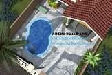 Maquette 3d Duplex Ultra Moderne - Cameroun