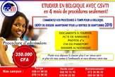 Etudiez En Belgique  Pour Septembre 2019 - Cameroun