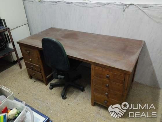 Bureau bois rouge casier archive chaise pilote alger jumia deals