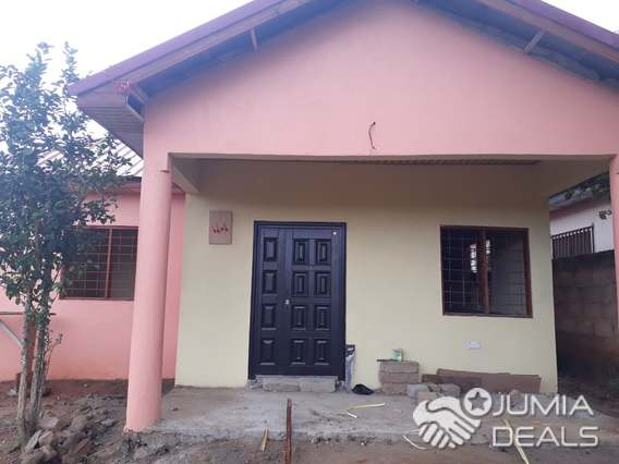A newly built three bedroom house for sale