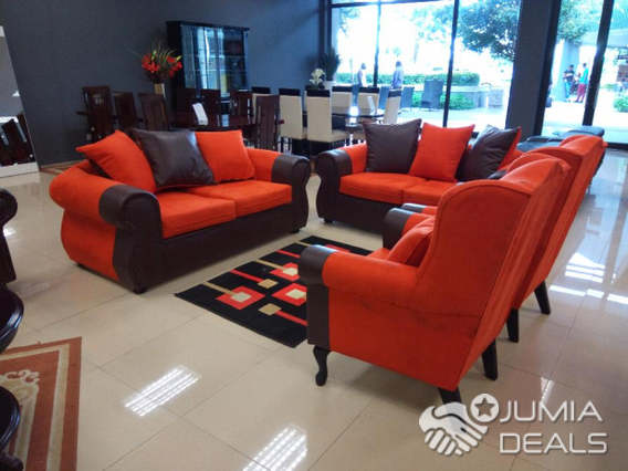 4 Piece Montex Orange sofa set