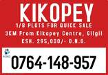 KIKOPEY, GILGIL LAND FOR SALE - Kenya