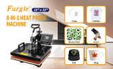 Heat Press Machine 15x15 inch 8 in 1 T-Shirt Digital Printing Transfer Sublimation - Kenya