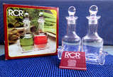 RCR ROYAL CRYSTAL ROCK GAMMA SET 2 OIL & VINEGAR SET / WITH STOPPERS 1 TRAY - Kenya