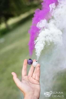 Colour smoke bombs