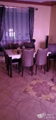 Mable Dining Table With 6 Lather And Metallic Chairs Karura Jumia Deals
