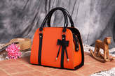 Leather tote ladies handbag with bow ties - Kenya