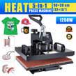 "5 in 1 Heat Press Machine Swing Away T-Shirt Mug Hat 12""x15"" Digital Transfer - Kenya"