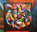 Lion Abstract Painting on Sale  - Kenya