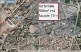 terrain  568m²  magnifique pour immeuble r+4 facade 17m  agdal - Maroc