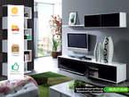 Meuble Tv 3 Pièces 6 Portes 3 Étagères 200 CM - Maroc