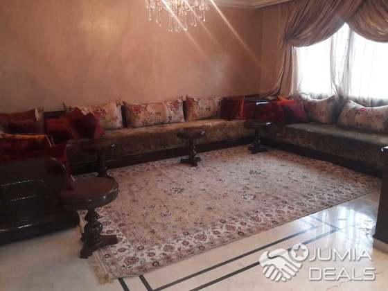 Salon marocain traditionnel BELDI d\'occasion de haute gamme en bois ...