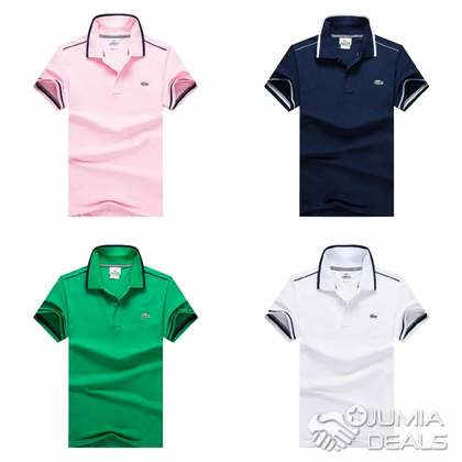 0032b557d Lacoste Slim Fit Stripe Collar Polo Shirt - Nigeria