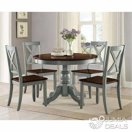 Farmhouse Dining Table Set Rustic Round, Round Dinner Table Set