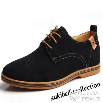 a51c9602c85f31 2019 New Arrival Casual Suede Leather Loafers Black Oxford Shoes - Nigeria