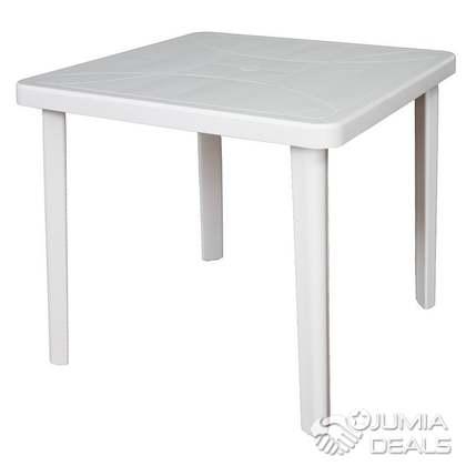 Blanc Carre Plastique Progarden Jardin Table BxrdCtshQ