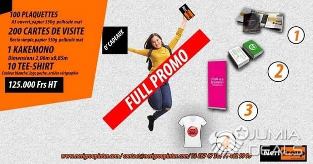 Promo Package 100 Plaquettes200 Carte De Visite1 Kakemono10t Shirts