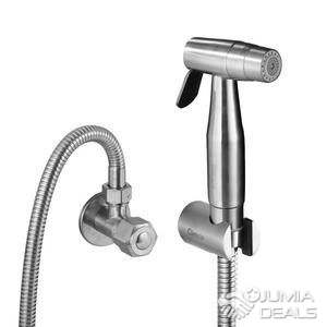 acier inoxydable avec 2 joints Kit de bidet avec douchette /à main tuyau et support Douchette WC pour douche intime