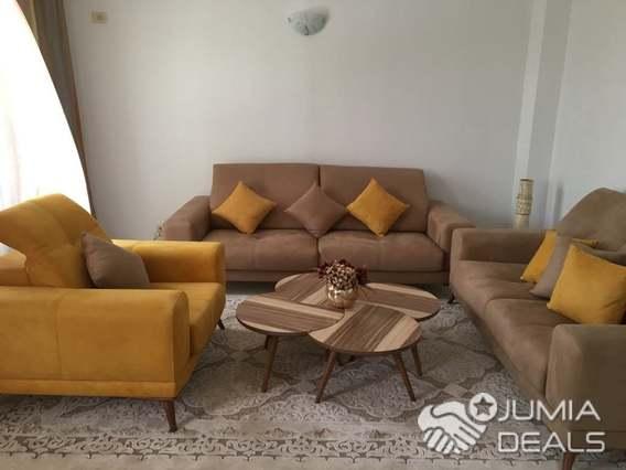 Salon 6 Places + Table en excellent état (Bois Blenz) | Tunis |