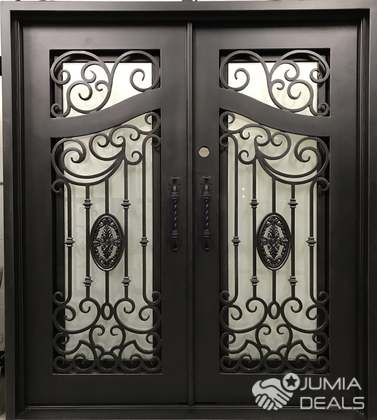S180819 Wrought Iron Double Doors B