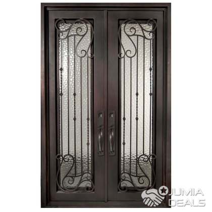 S090819 Wrought Iron Double Doors B